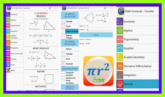 Aplikasi Kumpulan Rumus Cepat Hitung Matematika Semua Jenjang