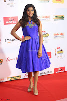 Eesha in Cute Blue Sleevelss Short Frock at Mirchi Music Awards South 2017 ~  Exclusive Celebrities Galleries 074.JPG