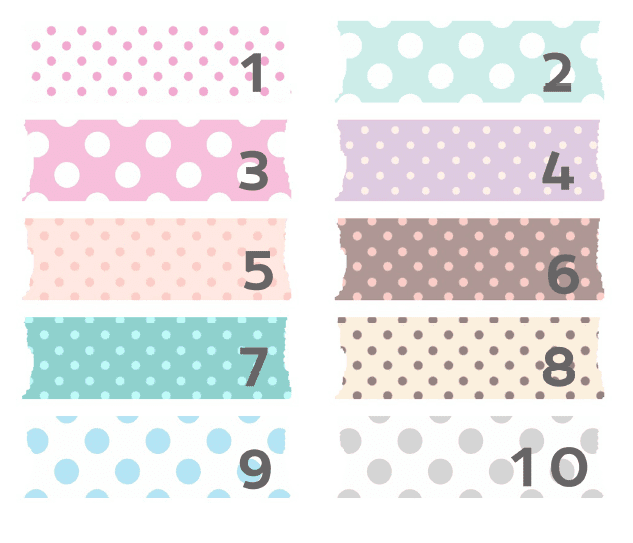 Washi-tape digital con topos para descargar gratis y usar en tu blog como fondo de títulos