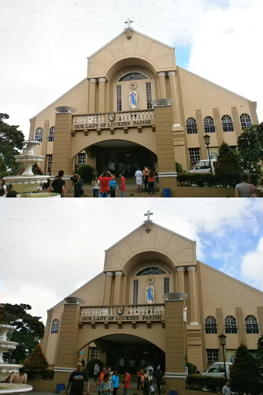 Front of Our Lady of Parish church