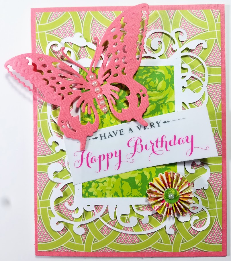 Running With Scissors Butterfly Birthday Card