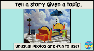 Use unusual photos to spark a story!