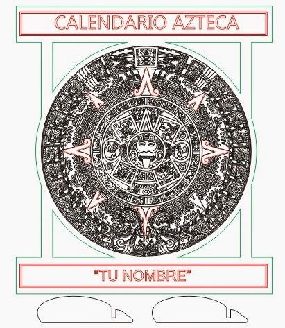 Calendario Azteca Vectores.Calendario Azteca Corte En Laser Y Grabado En Laser En Mdf O