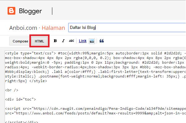 Cara Membuat Halaman Sitemap Blog