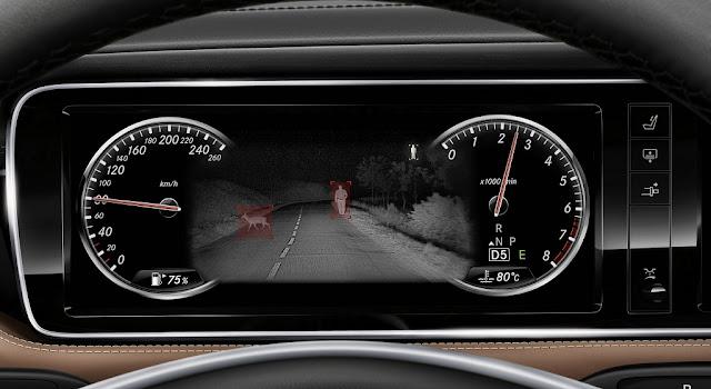 Mercedes S500 4MATIC Coupe 2018 được trang bị Hệ thống hỗ trợ quan sát ban đêm Night View Assist Plus
