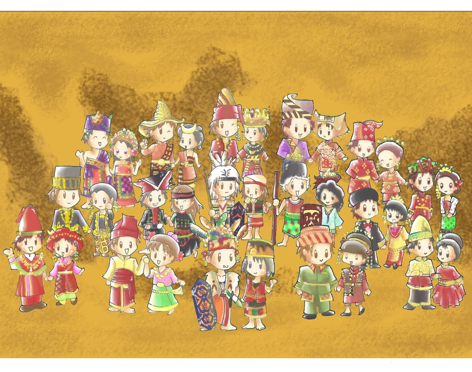 Contoh Model Pakaian Adat Tradisional dari 33 Provinsi di Indonesia