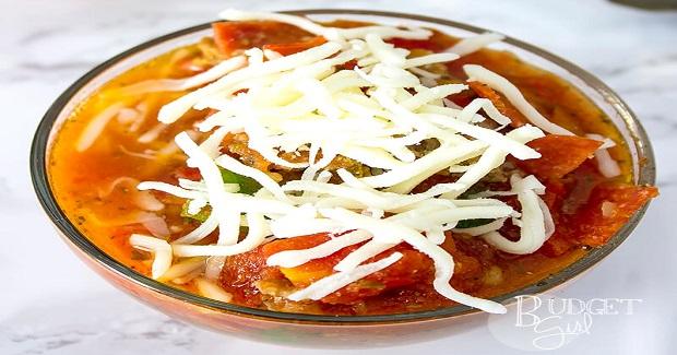 Crock Pot Pizza Soup Recipe