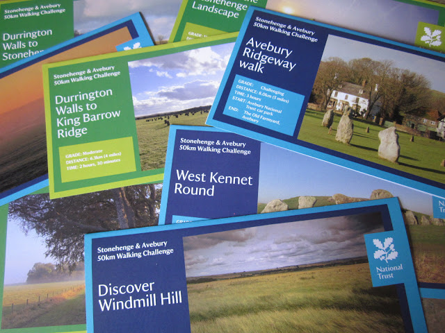 National Trust walk leaflets for 8 walks around Avebury and Stonehenge