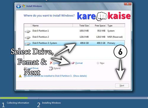 select-drive-format-and-next-kare