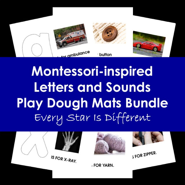 Montessori-inspired Letters and Sound Play Dough Mats Bundle