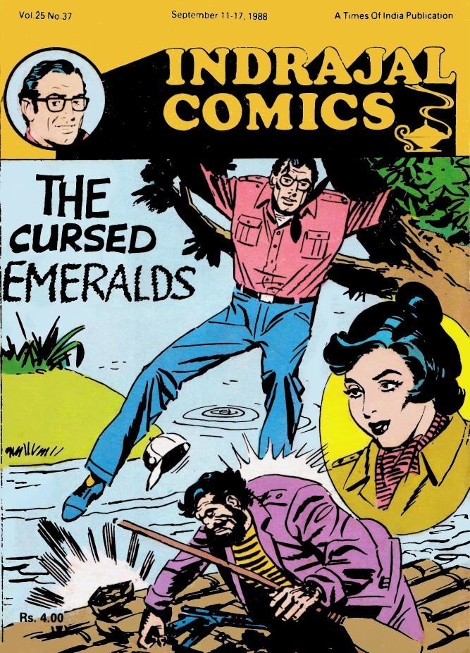 Old Comics world: Indrajal Comics Vol 25 No 37- Rip Kirby-The Cursed