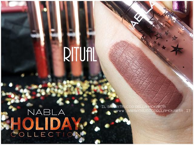 ritual swatches liquid lipstick nabla rossetto liquido
