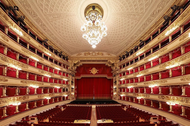 Teatro alla Scala em Milão na Itália