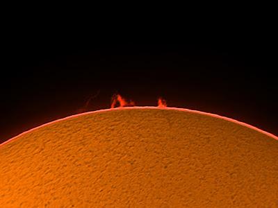 Protuberàncies solars  9/07/2018