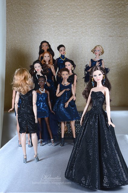 Black evening gown for Model Muse Barbie