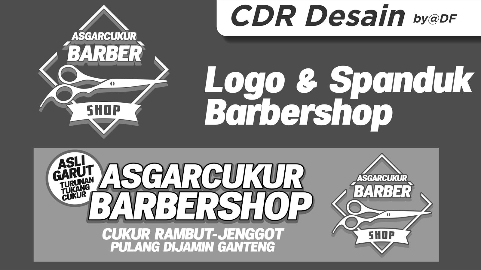 Logo dan Spanduk Barbershop Unik