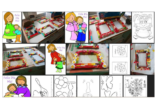 manualidades,colorear,recortar,festejo,madres