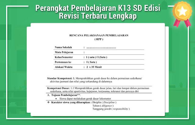 Perangkat Pembelajaran K13 SD Edisi Revisi Terbaru Lengkap