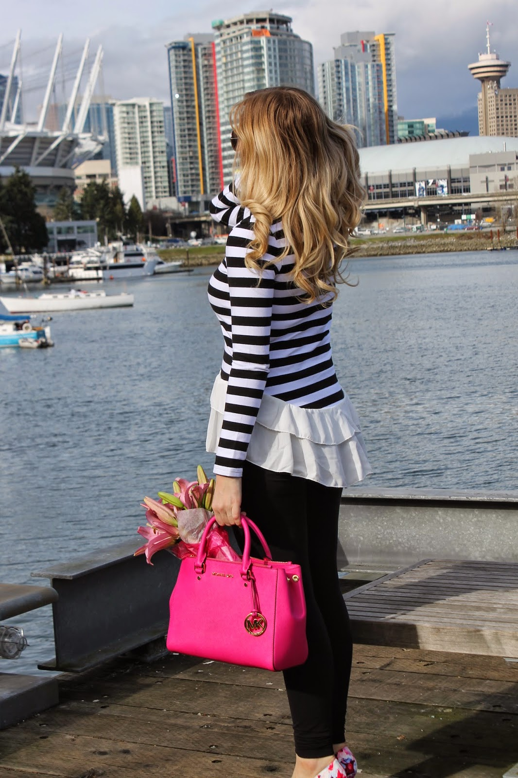 Striped-shirt-floral-shoes