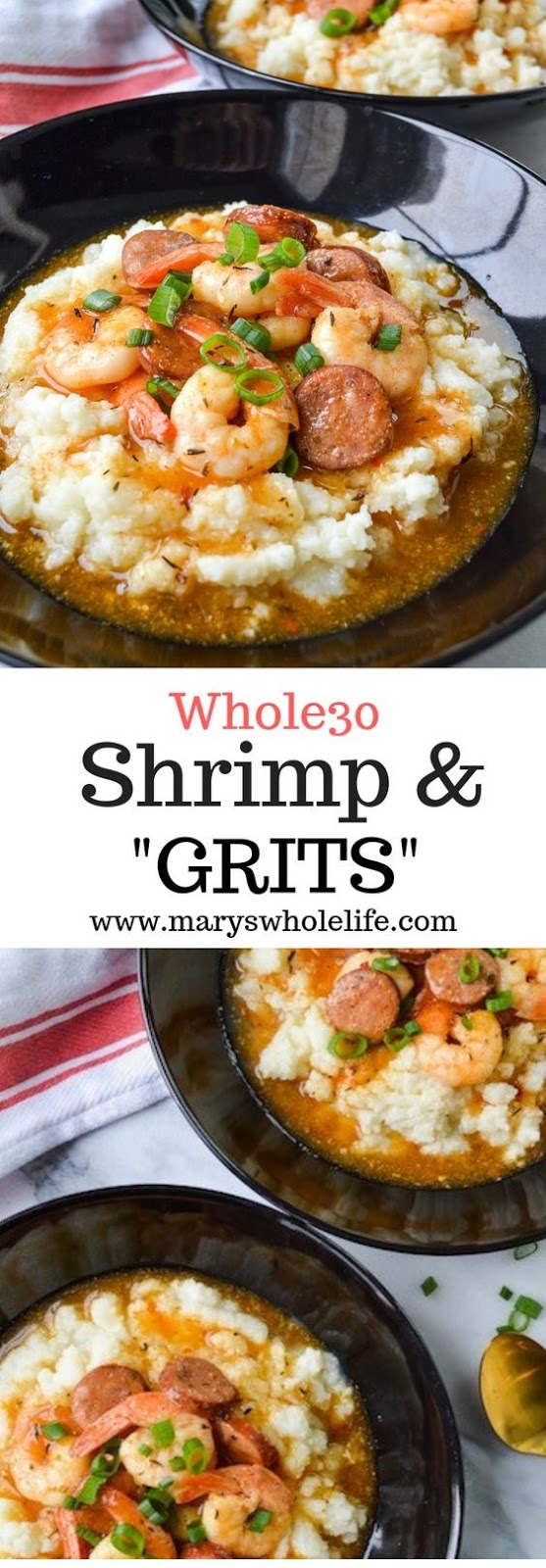 Whole30 Shrimp & (Grits)