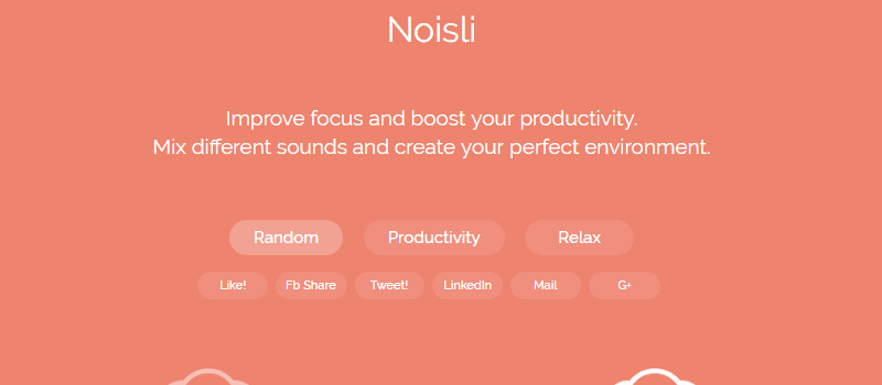Noisli helps improve focus and boost your productivity