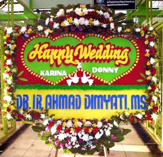 Gambar Bunga Papan Pernikahan_Happy Wedding