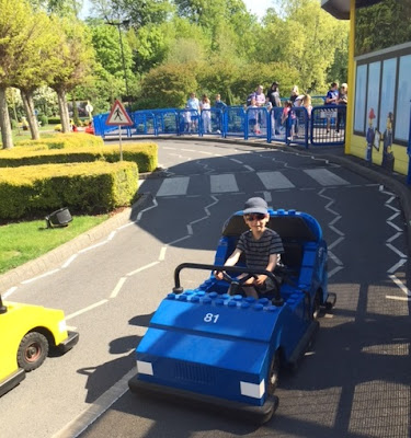 Child driving car at Legoland