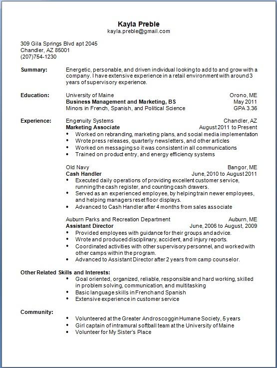cash handler resume format in word free download