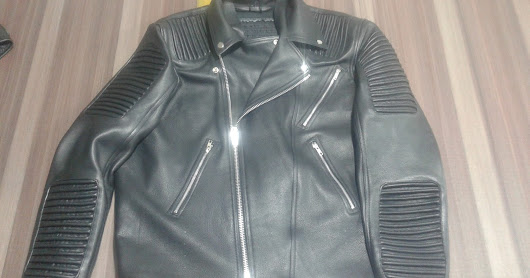 Motor Bike Fashion Leather Jacket made of cowhide leather
