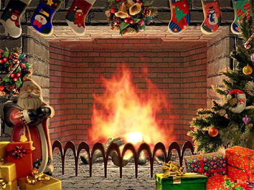 Cell Wallpaper Hd Illustration Fall Download Christmas Tree And Fireplace Wallpaper Daily News
