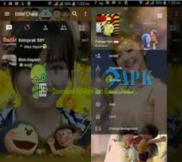 Download Update BBM Mod Doraemon Versi 3.1.0.13 Apk Terbaru For Android 2016