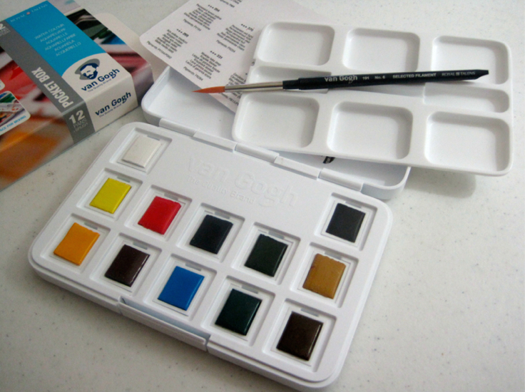 van gogh watercolors just add water silly
