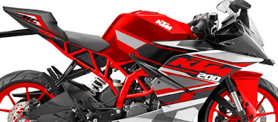 KTM RC 200 red & white shades pics