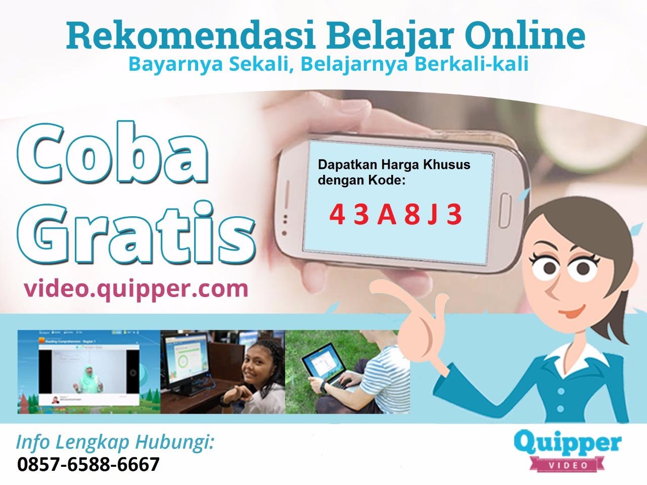 Kode Promo Quipper Video 2018 2017 43a8j3 Sbmptn Untuk Promonya Yaitu