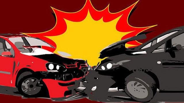 Kecelakaan Latumenten BWM Adu Banteng Dengan Innova, 4 Orang Luka-Luka