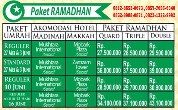 Paket Umroh Ramadhan 2017 Alhijaz Indowisata