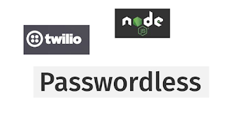 One time password authentication using Nodejs, passwordless and Twilio