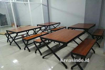 Jasa Pembuatan Meja Cafe Besi Kombinasi Multipplek