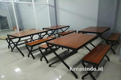 Jasa Pembuatan Meja Cafe Besi Kombinasi Multiplek