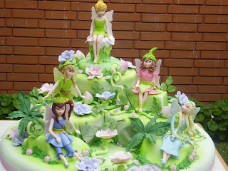 Birthday Cake Toppers On Tinkerbell