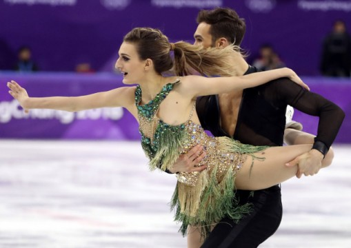 French figure skater Gabriella Papadakis suffered an embarrassing wardrobe malfunction on Monday, revealing a little more than just her Olympic gold medal ambitions in the ice dance competition.