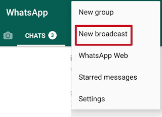 Whatsapp broadcast, whatsapp trick