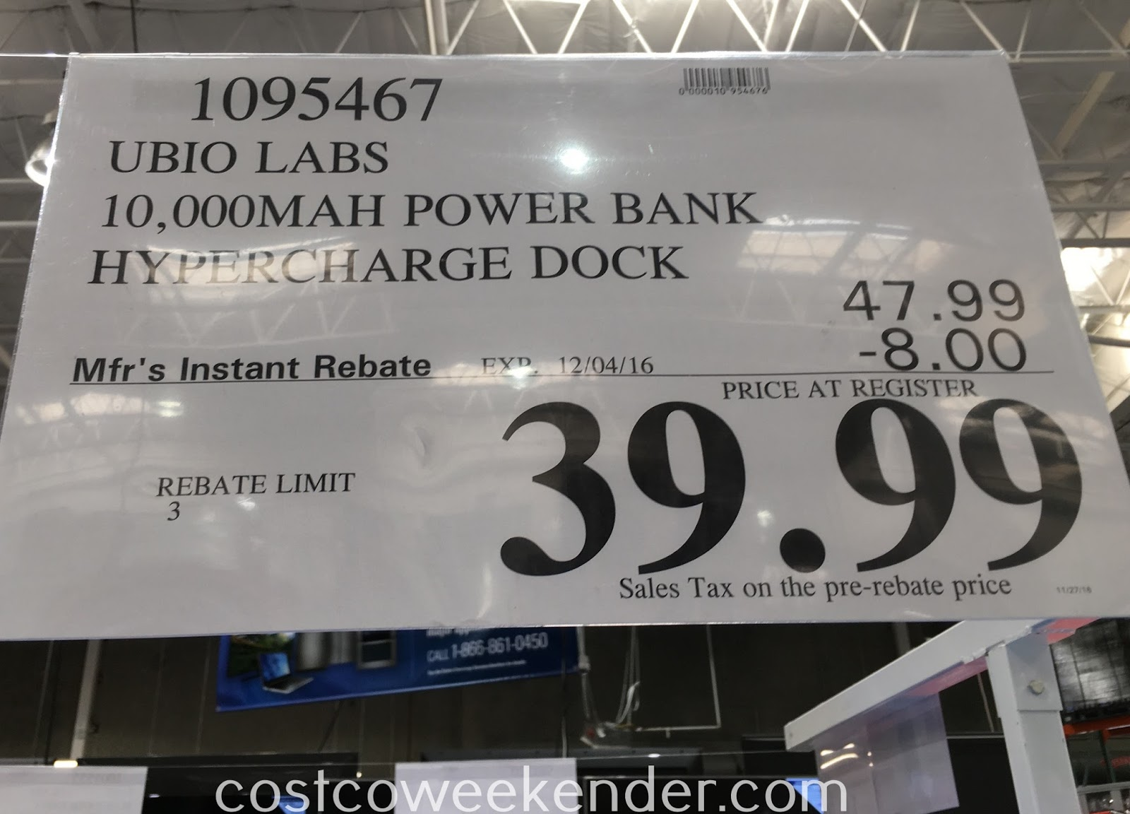 Deal for the Ubio Labs Iridium Power Bank with High Speed Charging Station at Costco