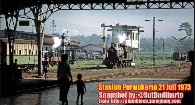 Stasiun Purwokerto Tempo Doeloe dan Lokomotif Uap 1922