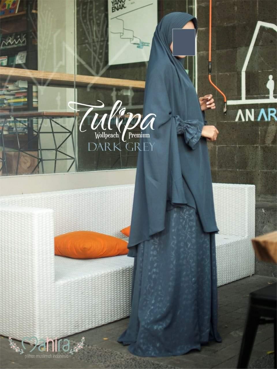Mahira Tulipa Wollpeach Premium Dark Grey