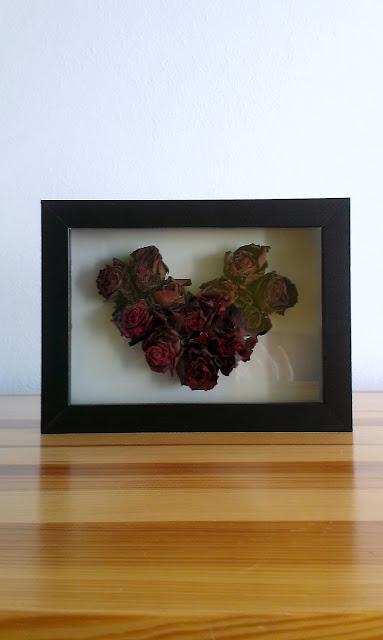 obrazek z róż DIY