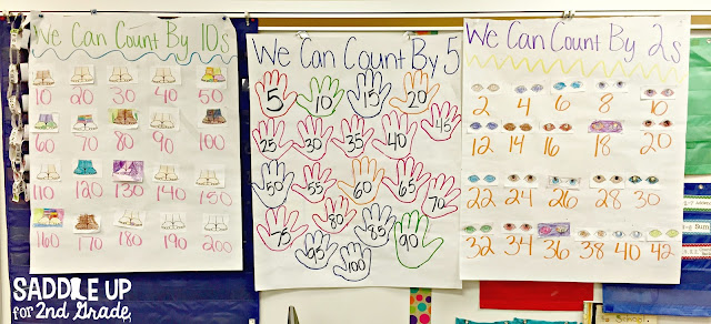 Skip counting doesn't have to be tricky. This blog post is full of hands on ideas and activities to practice skip counting for your little learners. There are FREE printable too!