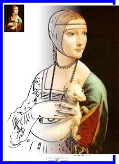 Dama com arminho - Leonardo da Vinci - www.professorjunioronline.com