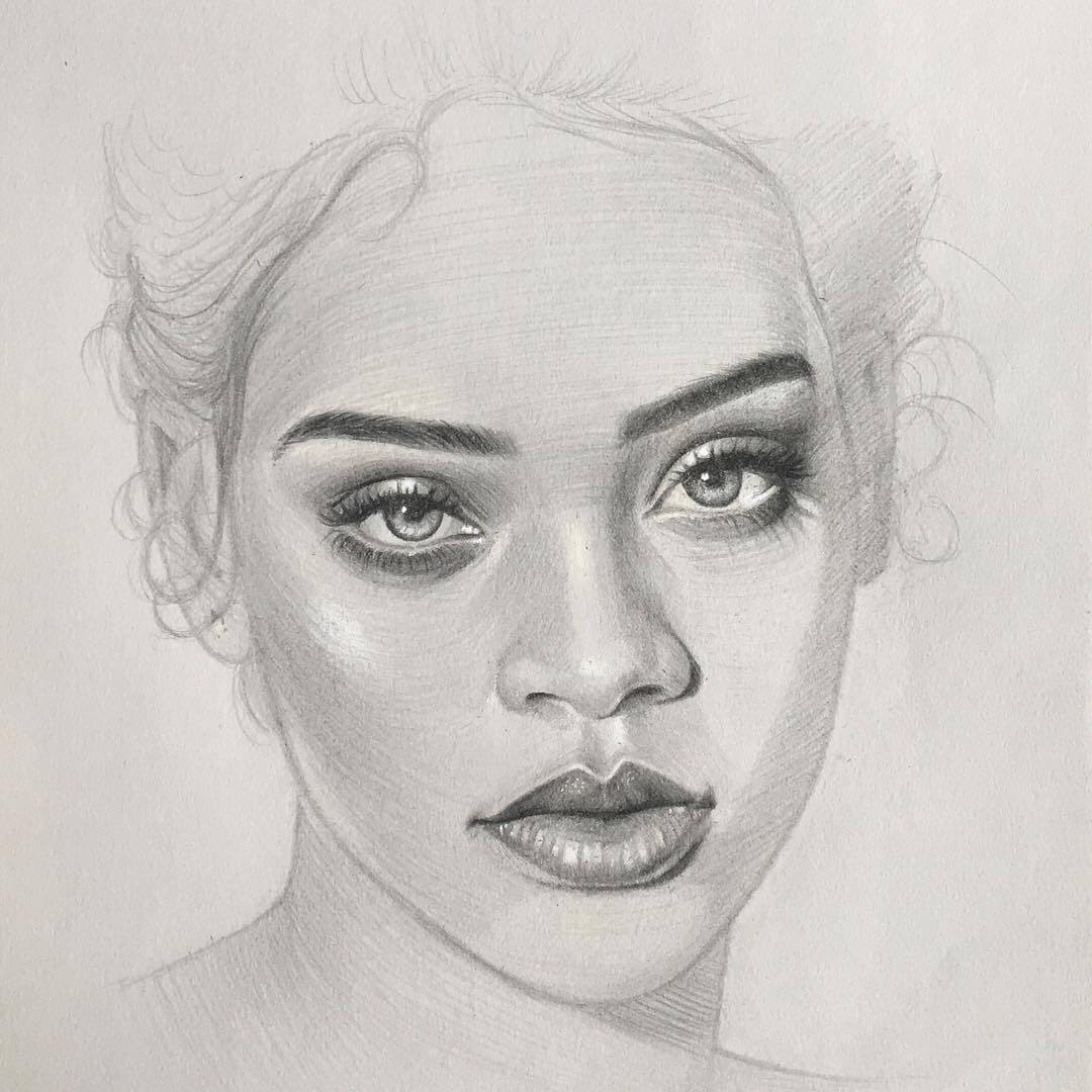 06-Rihanna-Thomas-Letor-Wave-Like-Style-Minimalist-Pencil-Portraits-www-designstack-co