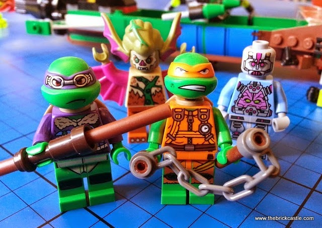 minifigures - Donatello, Michelangelo, Mutated Dr. O'Neil and The Kraang